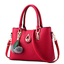 cheap Totes-Women's Bags PU(Polyurethane) Tote Zipper Red / Blushing Pink / Sillver Gray