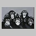 baratos Adesivos de Parede-mintura® pintados à mão animal gorila pintura a óleo sobre tela moderna arte abstrata parede imagens para decoração de casa pronto para pendurar