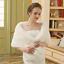 cheap Wedding Wraps-Faux Fur Wedding / Party / Evening Women's Wrap With Fur Shawls
