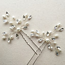 cheap Jewelry Sets-Imitation Pearl / Rhinestone Flowers / Hair Stick / Hair Pin with 1 Wedding / Special Occasion / Anniversary Headpiece