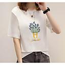 cheap Wetsuits, Diving Suits & Rash Guard Shirts-Women's Cotton T-shirt - Plants Print
