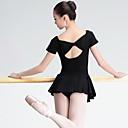 tanie Stroje baletowe-Balet Damskie Wydajność Spandeks Krótkie rękawy Naturalny Ubierać