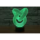 preiswerte Nachtleuchten-1 set LED-Nachtlicht / 3D Nachtlicht Wechsel USB Farbwechsel / Kreativ / Dekoration 5 V Künstlerisch / LED / Moderne zeitgenössische