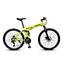preiswerte Fahrräder-Geländerad Radsport 21 Geschwindigkeit 26 Zoll / 700CC SAIGUAN EF-51 Doppelte Scheibenbremsen Federgabel Faltbar gewöhnlich Kohlestahl