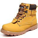 cheap Men's Boots-Men's Snow Boots Leather Fall / Winter Boots Booties / Ankle Boots Yellow / Coffee / Brown