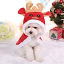 baratos Trajes de Natal para animais de estimação-Cachorro Casacos Roupas para Cães Formais Vermelho Algodão Ocasiões Especiais Para animais de estimação Natal