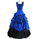 cheap Historical & Vintage Costumes-Victorian Medieval Costume Women's Dress Party Costume Masquerade Blue Vintage Cosplay Cotton Sleeveless Ankle Length Long Length Halloween Costumes