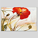 cheap Still Life Paintings-Oil Painting Hand Painted - Floral / Botanical Comtemporary Canvas