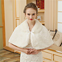 cheap Wedding Wraps-Faux Fur Wedding / Party / Evening Women's Wrap With Printing / Fur Capelets