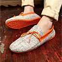 cheap Men's Slip-ons & Loafers-Men's Moccasin Fabric Summer Loafers & Slip-Ons Orange / Green / Blue