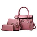 olcso Táska szett-Női Táskák PU táska szettek Cipzár Rubin / Arcpír rózsaszín / Szürke
