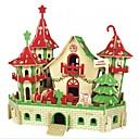 tanie Modele i zestawy modeli-Zabawki 3D / Puzzle / Model Bina Kitleri Domy / Moda / Zamek Dzieci / Nowy design / Gorąca wyprzedaż Drewno 1 pcs Klasyczny / Nowoczesny / Moda Dla dzieci Prezent