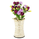 baratos Flor artificiali-Flores artificiais 1pcs Ramo Pastoril Estilo Rosas Flor de Mesa