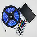 baratos Pulseiras Smart & Monitores Fitness-5m Conjuntos de Luzes 300 LEDs 5050 SMD RGB 12 V / IP65