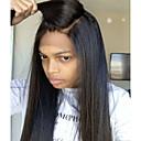 olcso Emberi hajból készült parókák-Emberi haj Csipke Paróka Brazil haj Egyenes Paróka Réteges frizura 130% Haj denzitás baba hajjal Természetes hajszálvonal Fekete hölgyeknek 100% Szűz A feldolgozatlan Női Rövid Közepes Hosszú Emberi