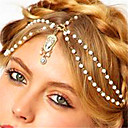 cheap Anklet-Women's Imitation Pearl Rhinestone Alloy Acrylic Rhinestone Imitation Pearl Head Chain