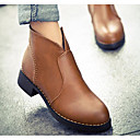 preiswerte Damen Stiefel-Damen Schuhe Nubukleder Herbst / Winter Modische Stiefel / Springerstiefel Stiefel Blockabsatz Booties / Stiefeletten Schwarz / Gelb