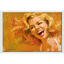 cheap People Paintings-Oil Painting Hand Painted - People Classic Canvas