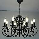 tanie Lampy stołowe-8 świateł Żyrandol Światło rozproszone Metal Świeca 110-120V / 220-240V Nie zawiera żarówek / E12 / E14