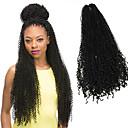 preiswerte Haarzöpfe-Geflochtenes Haar Afro / Gehäkelt / Curly Webart Afro verworren Zöpfe / Echthaar Haarverlängerungen 100% kanekalon haare Haar Borten 100% kanekalon haare Alltag
