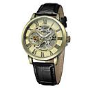 abordables Relojes de Vestir-FORSINING Hombre Reloj de Pulsera Reloj Casual / Cool Piel Banda Casual / Moda Negro / Cuerda Automática
