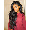 cheap Human Hair Wigs-Human Hair Lace Front Wig Brazilian Hair Wavy Body Wave Natural Wave Natural Black Wig Middle Part 130% Density with Baby Hair Unprocessed Natural Black Women's Short Medium Length Long Human Hair