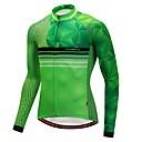 povoljno Biciklističke hlače, kratke hlače i tajice-CYCOBYCO Muškarci Dugih rukava Biciklistička majica Zelen Dungi Bicikl Biciklistička majica Majice Ugrijati Sportski Zima Poliester Spandex Runo Odjeća / Rastezljivo