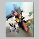 tanie Obrazy olejne-Hang-Malowane obraz olejny Ręcznie malowane - Abstrakcja Prosty Nowoczesny Naciągnięte płótka / Rozciągnięte płótno