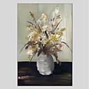 preiswerte Florale/Botansiche Gemälde-Hang-Ölgemälde Handgemalte - Stillleben Modern Segeltuch