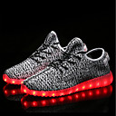 cheap Men's Sneakers-Men's Light Up Shoes Knit Spring, Fall, Winter, Summer Comfort Athletic Shoes Black / Gray / Red
