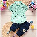 ieftine Pantaloni Băieți-Copil Băieți Casual / Șic Stradă Floral / Desene Animate Manșon scurt Regular Bumbac Set Îmbrăcăminte Albastru piscină 100