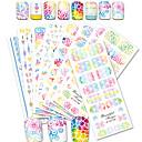 billige Negleklistremerker-12pcs/set Vannoverføringsklistre / Nail Sticker Nail Decals / Nail Art DIY Tool Accessory Klistremerker / Nail Art Design