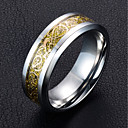 cheap Rings-Men's Band Ring - Fashion 6 / 7 / 8 / 9 / 10 Gold / Black / Gray For Wedding Daily
