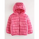 tanie Bluzy dla dziewczynek-Odzież puchowa / pikowana Bawełna Dla dziewczynek Jendolity kolor Długi rękaw Blushing Pink