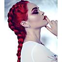 olcso Szintetikus csipke parókák-Szintetikus csipke front parókák Egyenes Szintetikus haj Piros Paróka Női Hosszú Csipke eleje