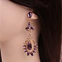 cheap Earrings-Women's Crystal Stud Earrings / Drop Earrings - Crystal Drop Dainty, Classic, Fashion Purple For Party / Going out