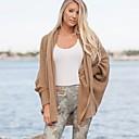 cheap Women's Sweaters-Women's Long Sleeves Long Cardigan - Solid, Knitting