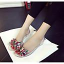 olcso Női magassarkú cipők-Női PVC bőr Tavasz / Nyár átlátszó Cipő Szandálok Fehér / Fekete / Világossárga