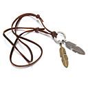 preiswerte Schmuck für Herren-Herrn Anhängerketten - Leder Braun Modische Halsketten Für Weihnachts Geschenke, Alltag, Normal