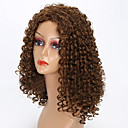 cheap Synthetic Capless Wigs-Synthetic Wig Curly Synthetic Hair African American Wig Brown Wig Women's Medium Length Capless Brown