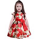 tanie Syntetyczne peruki z siateczką-Dzieci Dla dziewczynek Na co dzień Kwiaty Krótki rękaw Sukienka