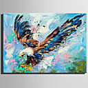 cheap Animal Paintings-Oil Painting Hand Painted - Animals Rustic Modern Canvas