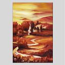 tanie Obrazy: martwa natura-Hang-Malowane obraz olejny Ręcznie malowane - Krajobraz Nowoczesny Brezentowy / Rozciągnięte płótno