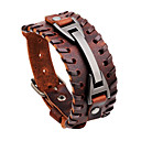 cheap Men's Bracelets-Men's Leather Bracelet - Rock, Hip-Hop, Statement Bracelet Black / Brown For Daily / Casual