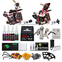 cheap Starter Tattoo Kits-Tattoo Machine Starter Kit - 2 pcs Tattoo Machines with tattoo inks, Professional LCD power supply Case Not Included 2 cast iron machine liner & shader