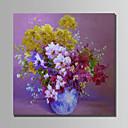 olcso Csendélet festmények-Hang festett olajfestmény Kézzel festett - Csendélet Modern Anélkül, belső keret / Hengerelt vászon