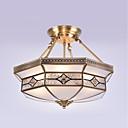 ราคาถูก ไฟเพดาน-4-Light Flush Mount Ambient Light ทองแดงขัดน้ำมัน โลหะ แก้ว Mini Style 110-120โวลล์ / 220-240โวลต์ ไม่รวมหลอดไฟ / E26 / E27