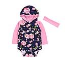 ieftine Set Îmbrăcăminte Băieți Bebeluși-Bebelus Fete Casual / Modă Floral Manșon Lung Bumbac bodysuit Albastru piscină 100 / Copil