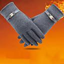 cheap Kigurumi Pajamas-Women's Winter Gloves / Keep Warm / Windproof Wrist Length Fingertips Gloves - Solid Colored