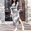 זול פיאות תחרה סינטטיות-גולף מידי מפוצל, אחיד - שמלה נדן סגנון רחוב בגדי ריקוד נשים